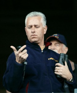 Todd Pletcher Looks at Stopwatch